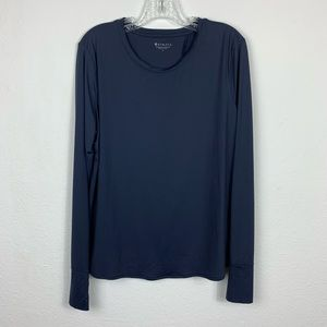 ATHLETA | Navy Blue Sunlover UPF Tulip Back Top